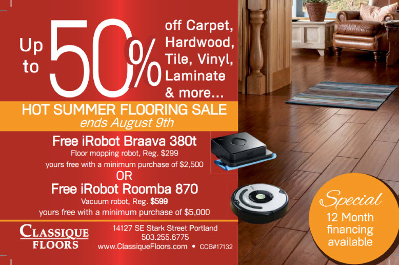 Hot Summer Flooring Sale July 26 To August 9th 2015